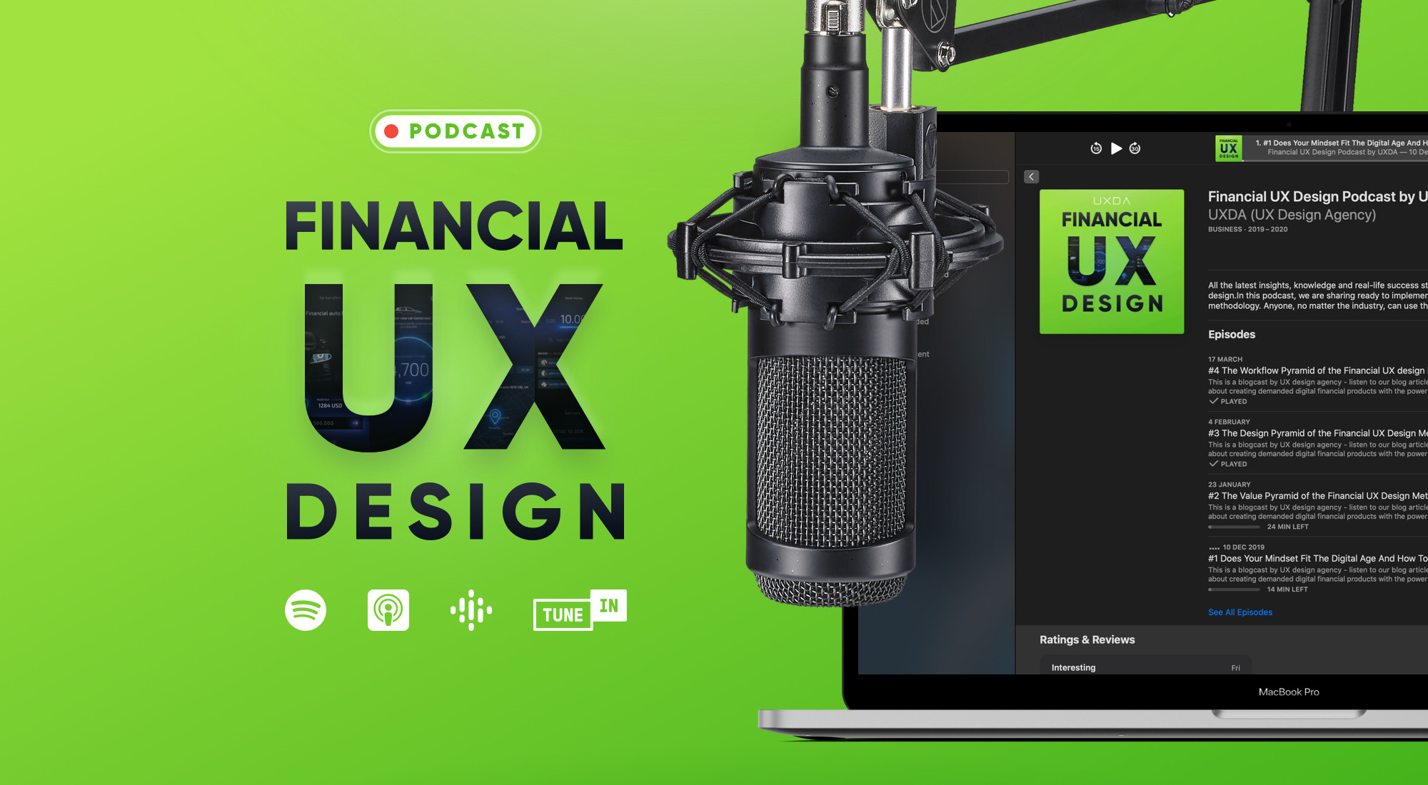 UXDA Launches Financial UX Design Podcast (and Becomes No.1 on the First Day!)