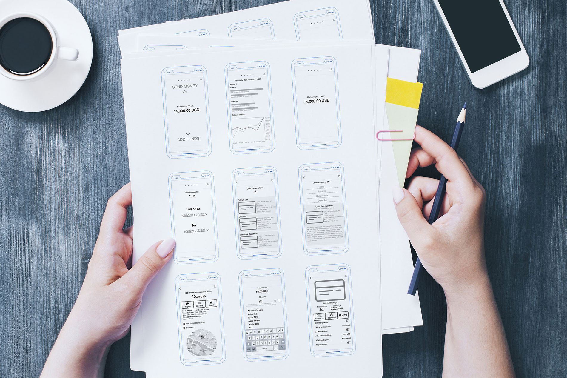 create-wireframes-for-mobile-banking-app-ux
