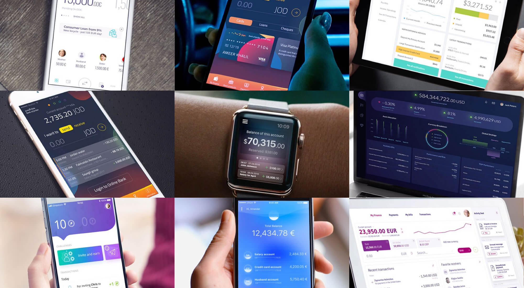 A Collection of 10 Most Interesting Financial Services UI/UX Designs