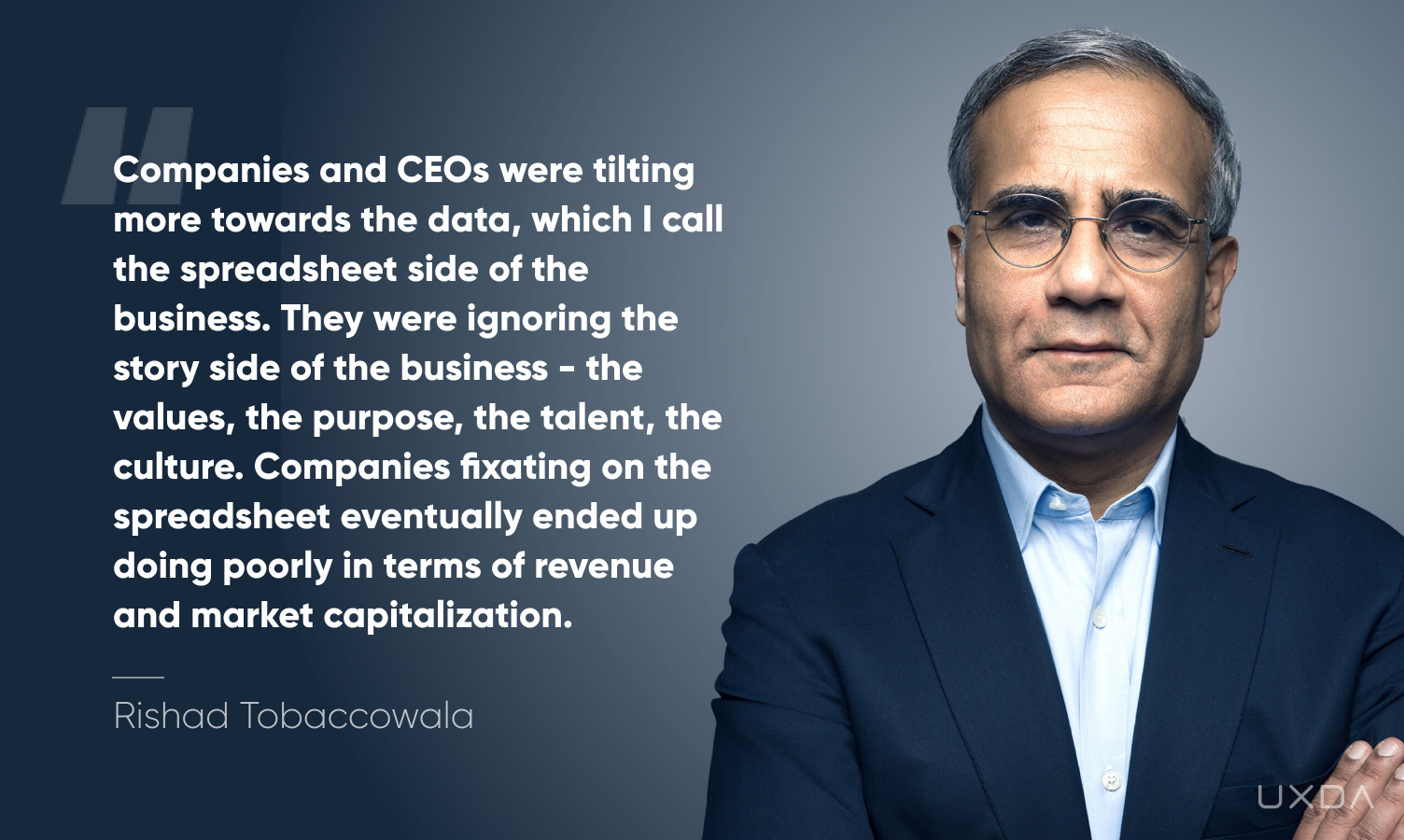 Exceptional Financial Product Design with a Soul - Rishad Tobaccowala quote
