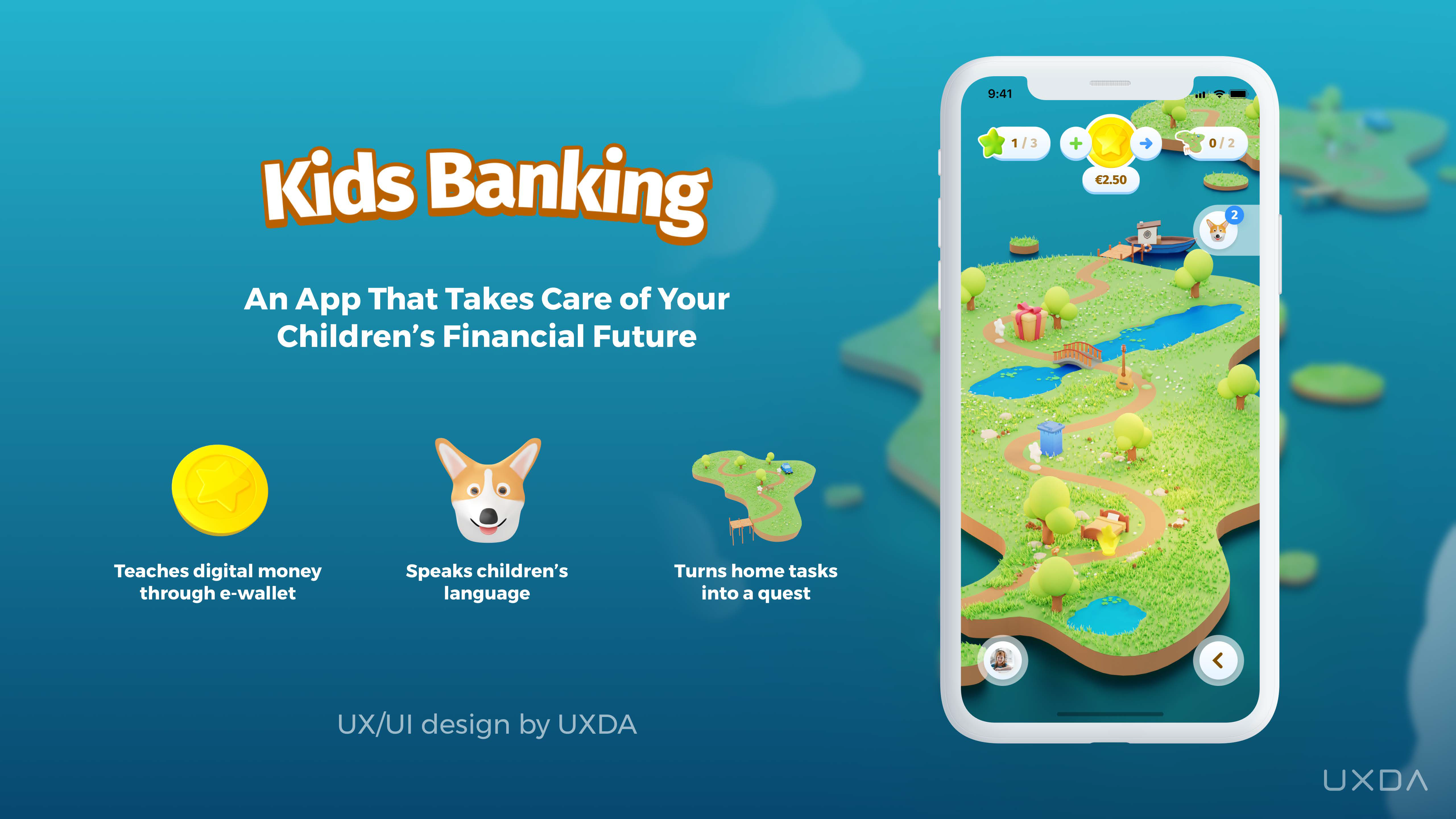 The banking app that playfully teaches kids to save money in order to save their future