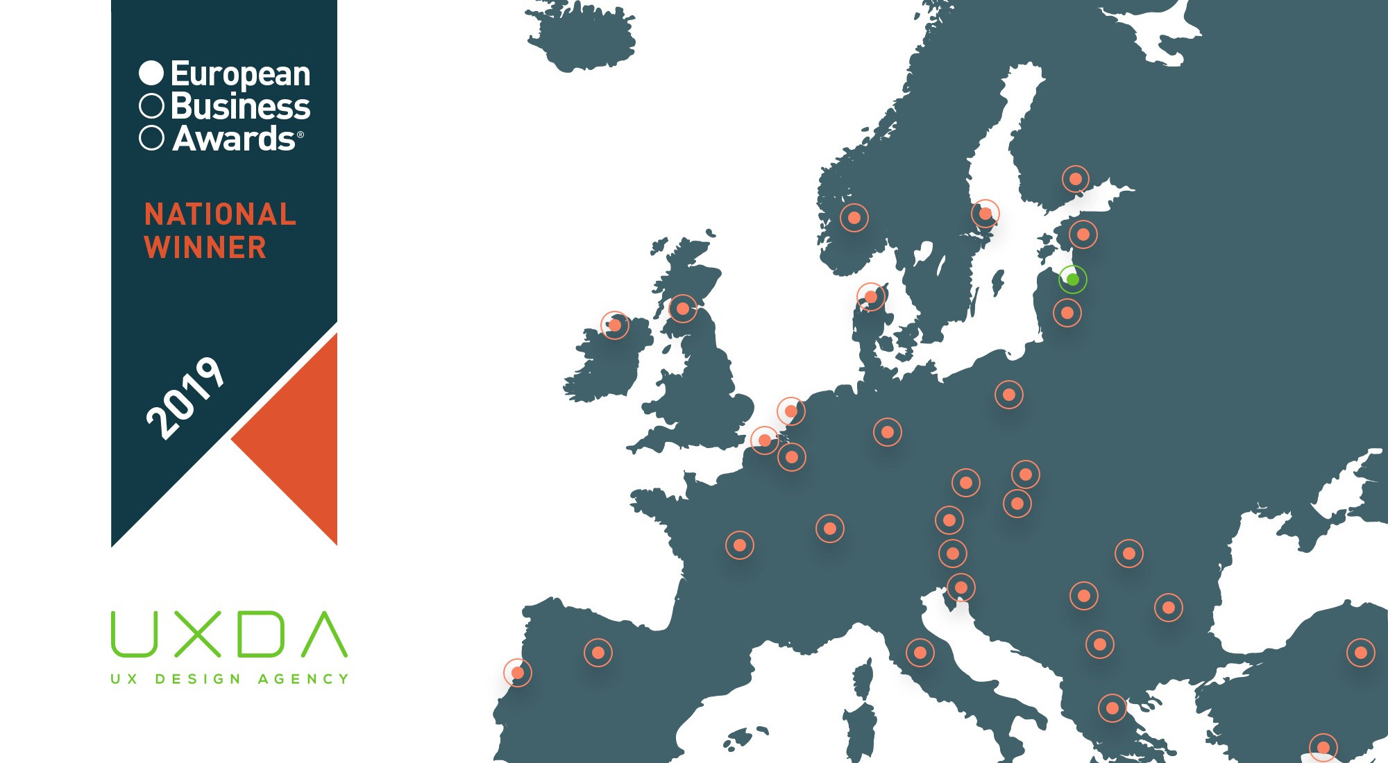 UXDA Becomes the National Winner of the 2019 European Business Awards